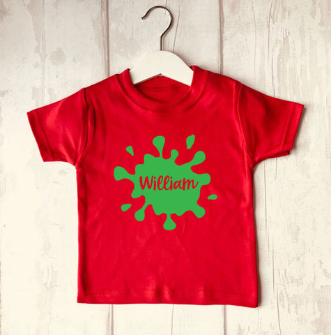 Personalised Splat Baby T-Shirt