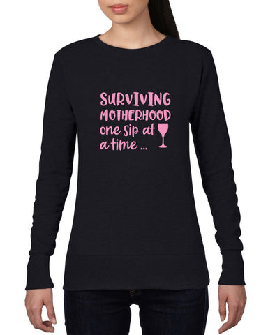Surviving Motherhood Funny Sweatshirt