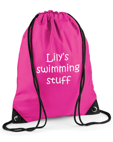 Personalised Swimming Kit Bag