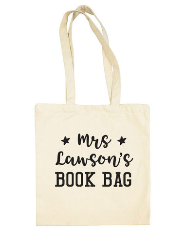 Personalised Teacher Book Bag