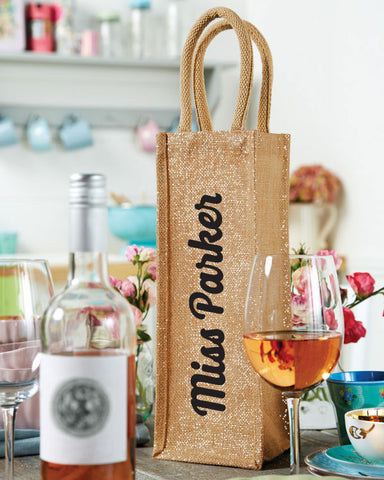 Personalised Teacher Bottle Bag