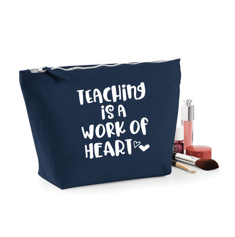 Teaching is a Work of Heart MakeUp Bag
