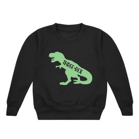 Three-Rex Kids' Dino Sweatshirt