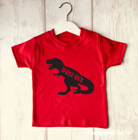Three-Rex Dinosaur 3rd Birthday T Shirt