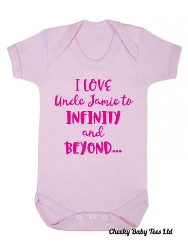 Personalised I Love Uncle/Aunt Babygrow