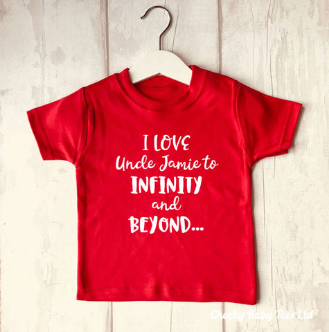 Personalised I Love Uncle/Auntie T Shirt