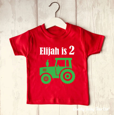 Tractor Personalised Birthday T Shirt