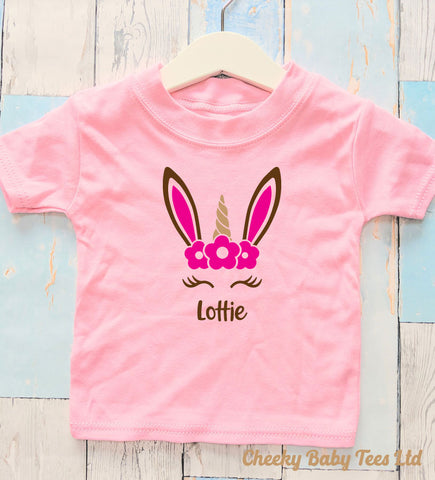 Unicorn Bunny Personalised T-Shirt