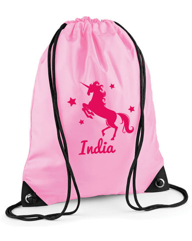 Personalised Unicorn Swimming Bag