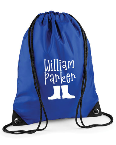 Personalised Children's Wellies Bag