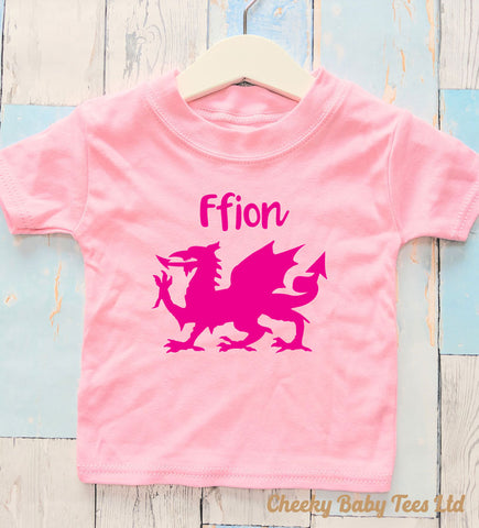 Personalised Welsh Dragon T-Shirt