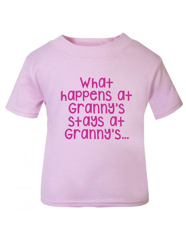 What Happens at Granny's Baby T Shirt