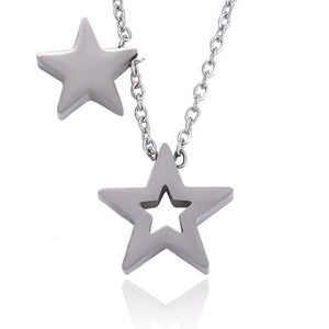 Collar Bölbo® Double Star Plata