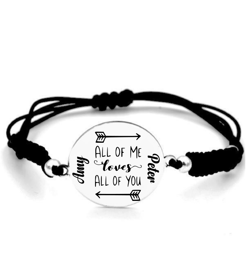 Pulsera Bölbo® Personalizada - All of me love all of you - Plata