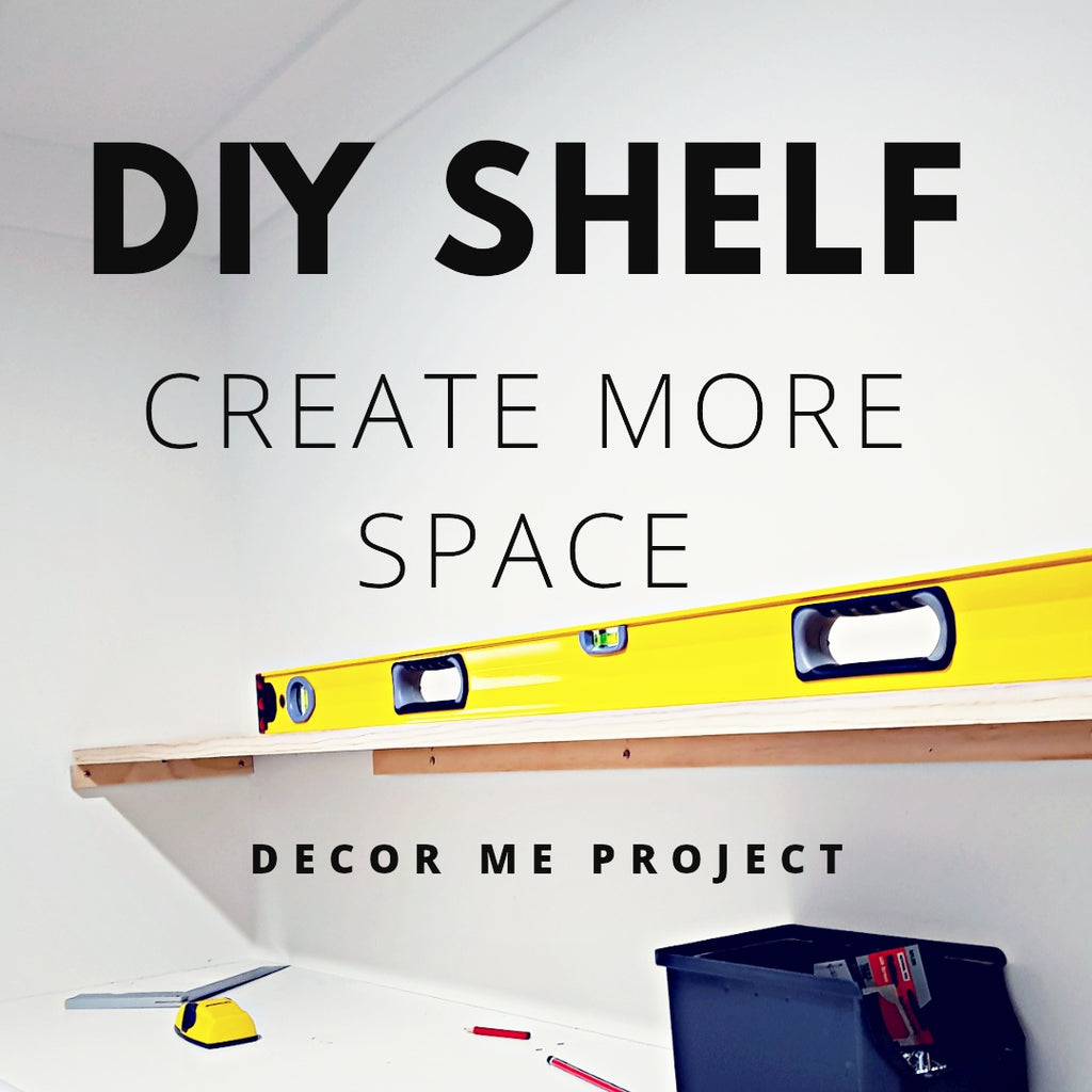 DIY Shelf - Wardrobe Organisation - Create More Space