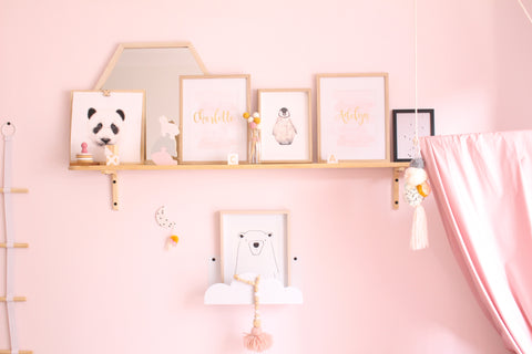The DIY shelf - Masterpiece looking pretty!