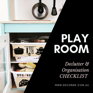 PLAYROOM DE CLUTTER CHECKLIST