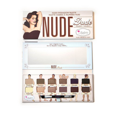 theBalm Nude Dude Eyeshadow Palette, 9.6g, eyeshadow palette, London Loves Beauty