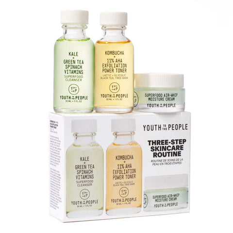 YOUTH TO THE PEOPLE Three-Step Skincare Routine Set, Skin Care, London Loves Beauty