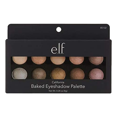 E.L.F. Baked Eyeshadow Palette - California, 8g, eyeshadow palette, London Loves Beauty