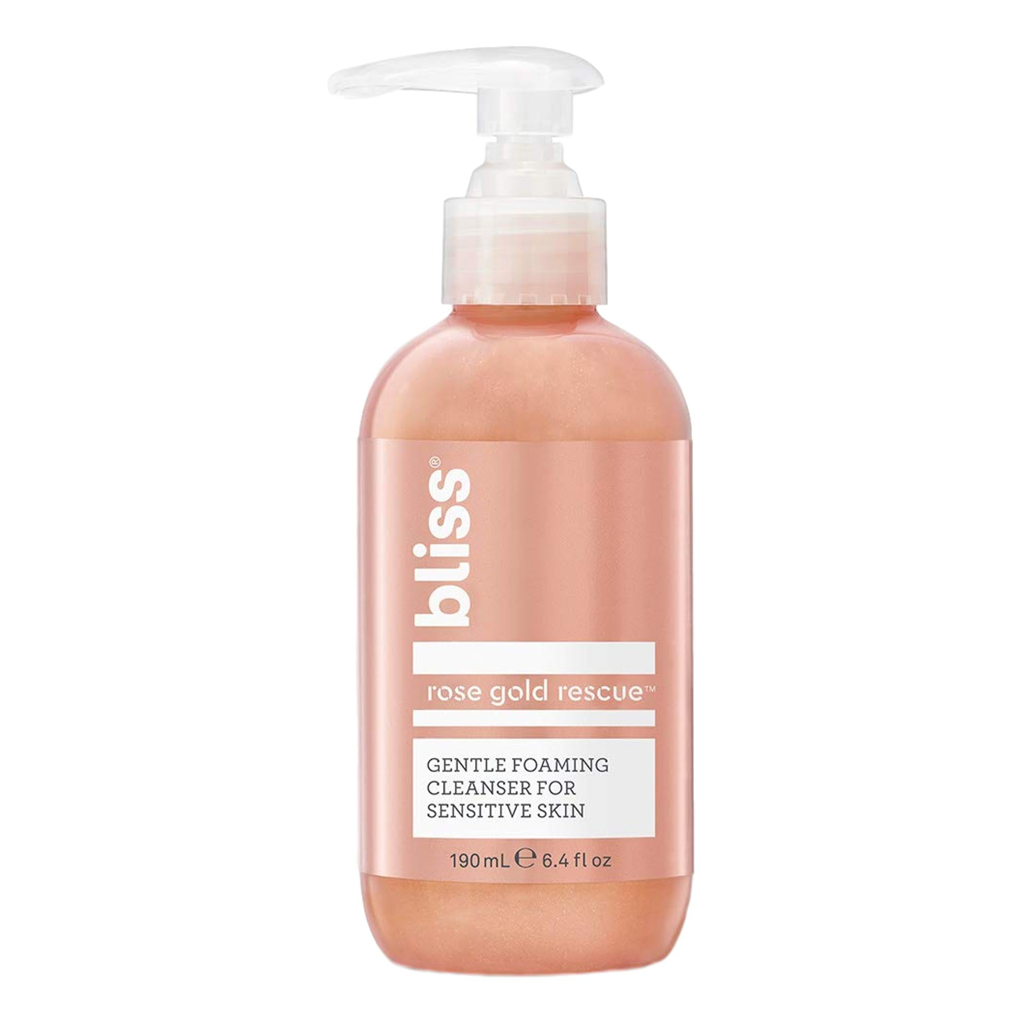 Bliss Rose Gold Rescue Cleanser, 6.4oz, cleanser, London Loves Beauty