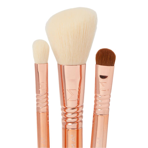 Sigma Beauty Essential Trio Brush Set | Rose Gold
