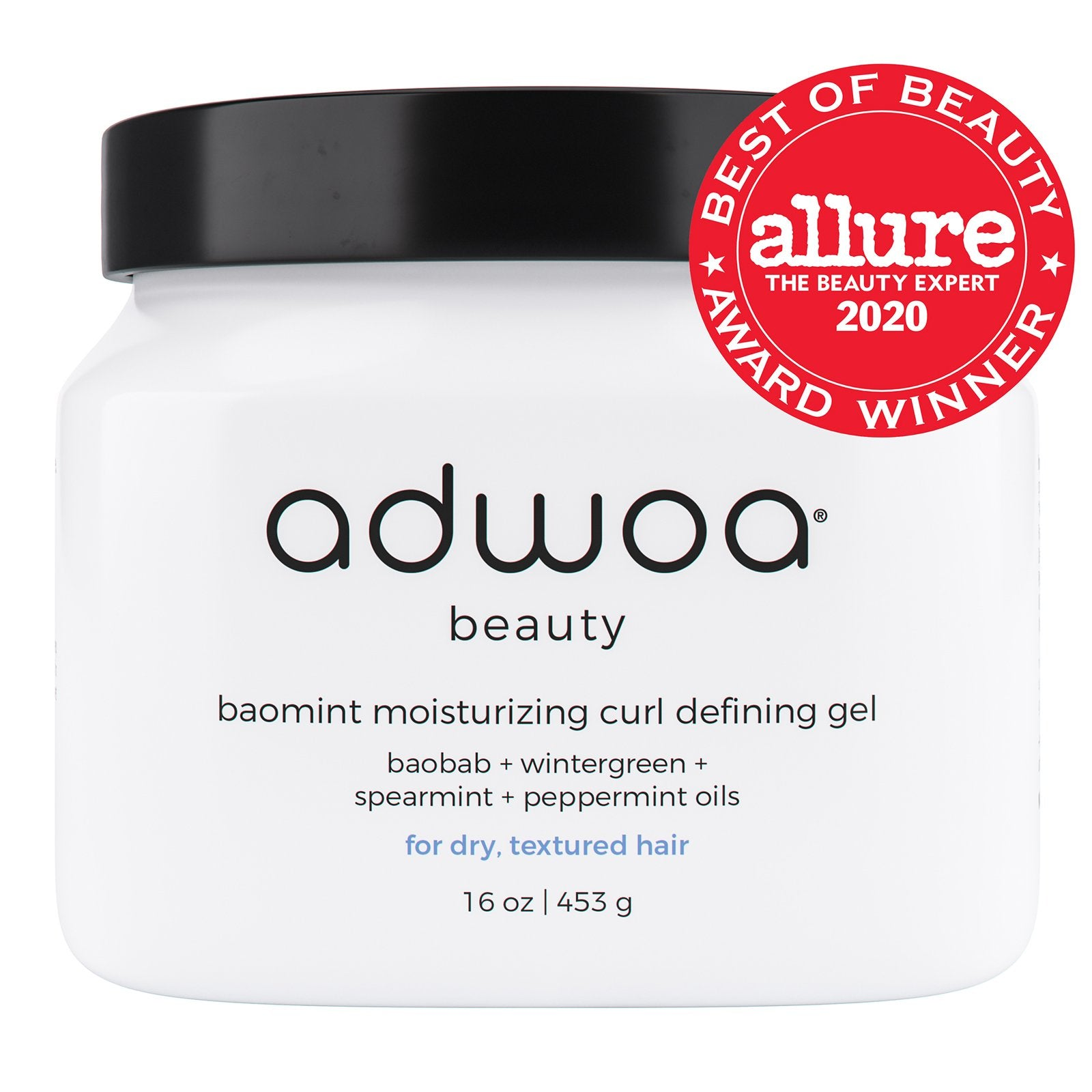 Adwoa Beauty Baomint Moisturizing Curl Defining Gel, 453g