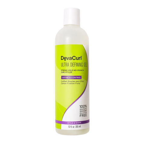 DevaCurl Ultra Defining Gel Strong Hold No-Crunch Styler, 12oz, Hair Care, London Loves Beauty