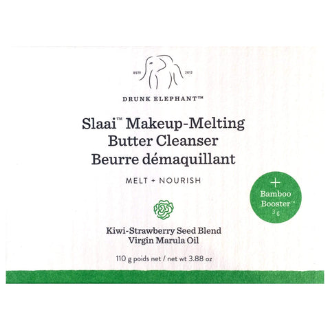 DRUNK ELEPHANT Slaai Makeup Melting Butter Cleanser 110g + free Bamboo Booster Exfoliant Physique 3g