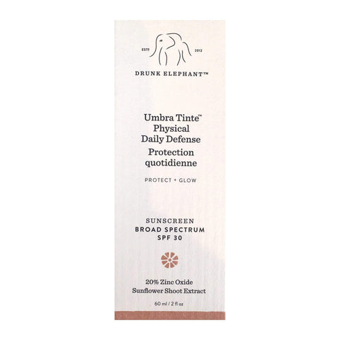 DRUNK ELEPHANT Umbra Tinte™ Physical Daily Defense SPF 30 Sunscreen, 60mL, sunscreen, London Loves Beauty