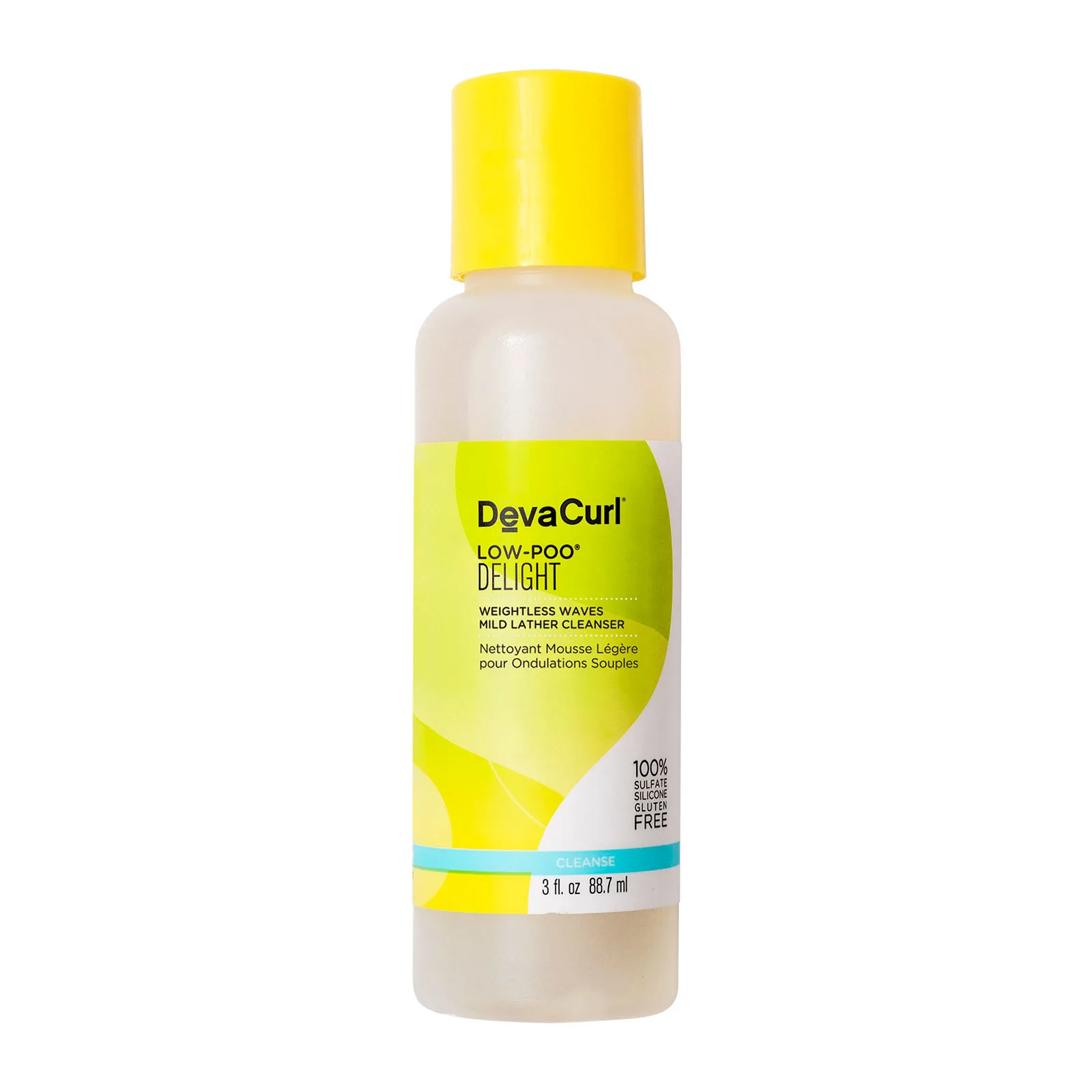 DevaCurl Travel Size Low-Poo Delight Weightless Waves Mild Lather Cleanser, 90ml