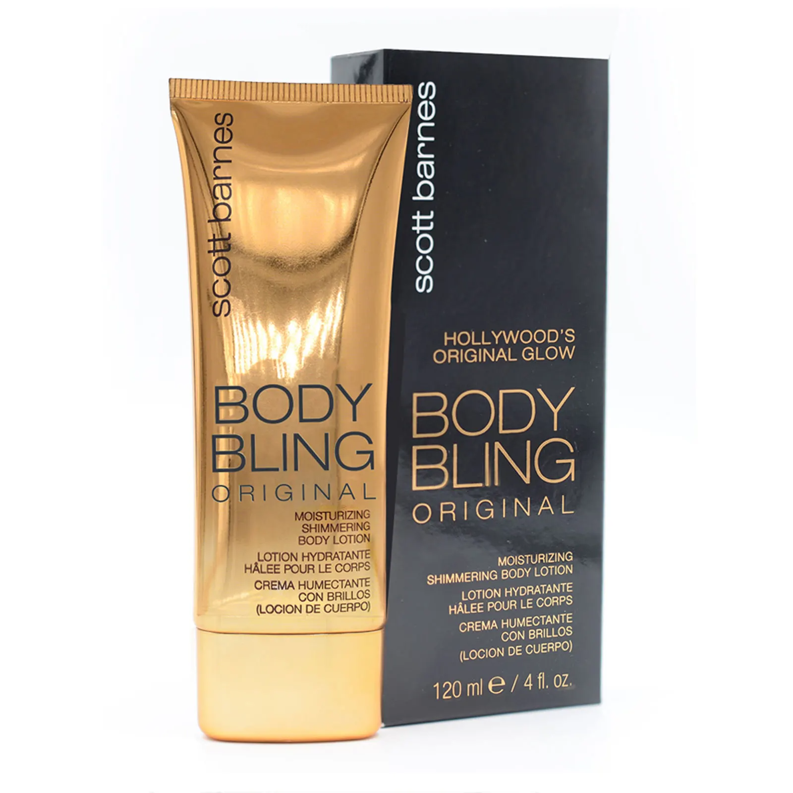 Scott Barnes Body Bling Shimmering Lotion Original Bronze, 120ml, body shimmer, London Loves Beauty