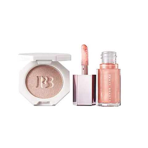 Fenty Beauty makeup set FENTY BEAUTY Tinsel Show - Gloss Bomb Baby 2 Mini Lip & Face Set