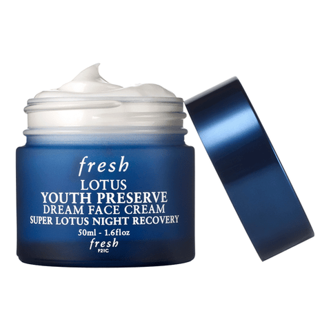 Fresh Lotus Youth Preserve Dream Face Cream Super Lotus Night Recovery, 50ml, Face Cream, London Loves Beauty