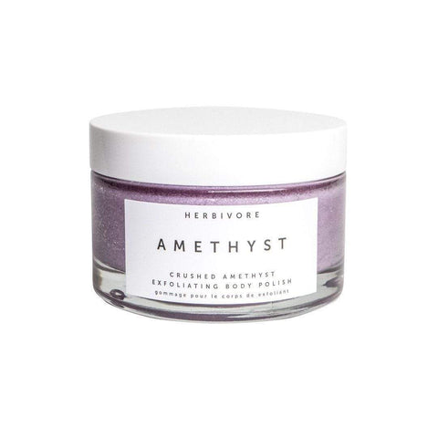 HERBIVORE Crushed Amethyst Exfoliating Body Polish, 6.6 oz | 200 mL, Body Scrub, London Loves Beauty