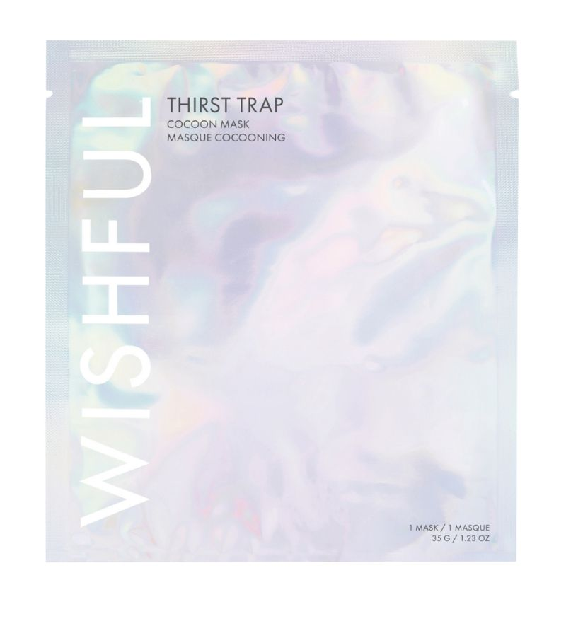 Huda Beauty Wishful Thirst Trap Cocoon Sheet Mask, 35g, Face mask, London Loves Beauty
