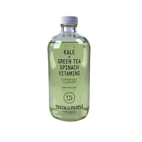 Youth To The People Kale + Green Tea Spinach Vitamins Superfood Antioxidant Cleanser Refill, 16oz