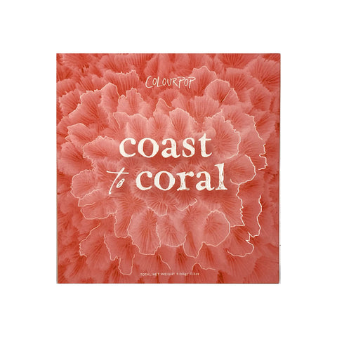 COLOURPOP Coast To Coral Shadow Palette, eyeshadow palette, London Loves Beauty