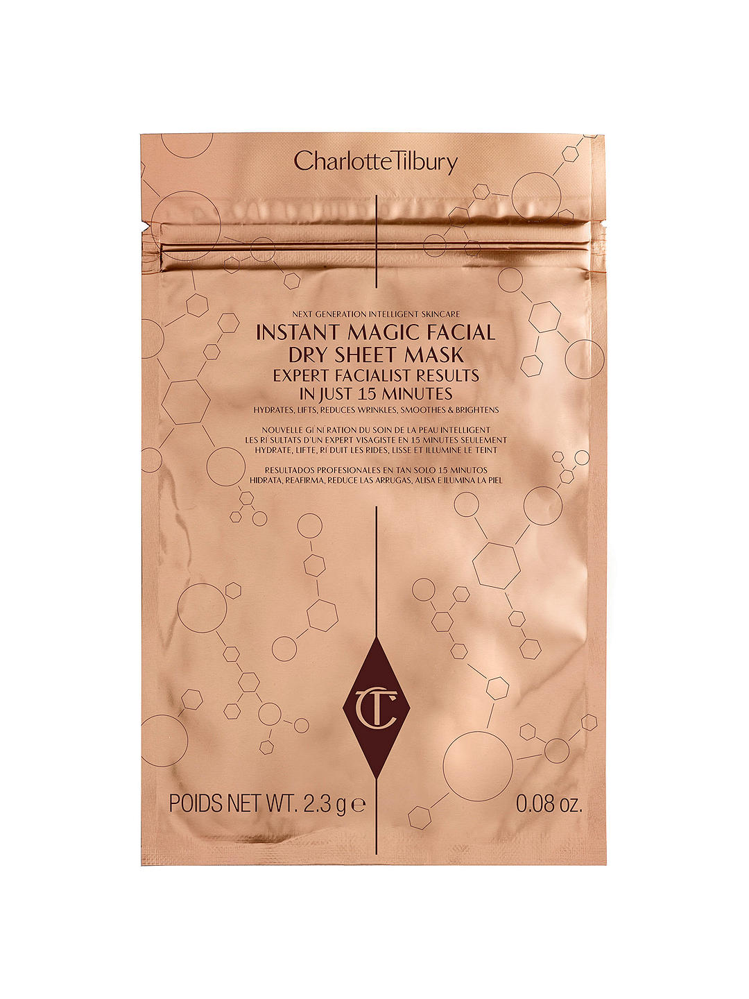 Charlotte Tilbury Instant Magic Facial Dry Sheet Mask x 1, Face mask, London Loves Beauty