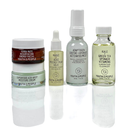 YOUTH TO THE PEOPLE Protect the Planet: 5 Refillable Glass Minis, Skin Care, London Loves Beauty