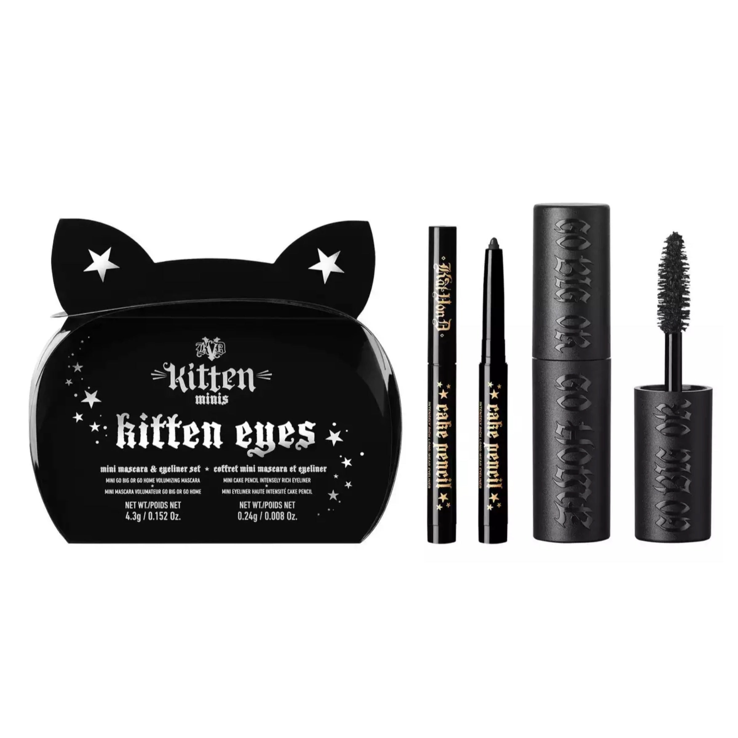 KVD Vegan Beauty - 'Kitten Eyes' Miniature Size Eye Makeup Gift Set, Travel Kit, London Loves Beauty