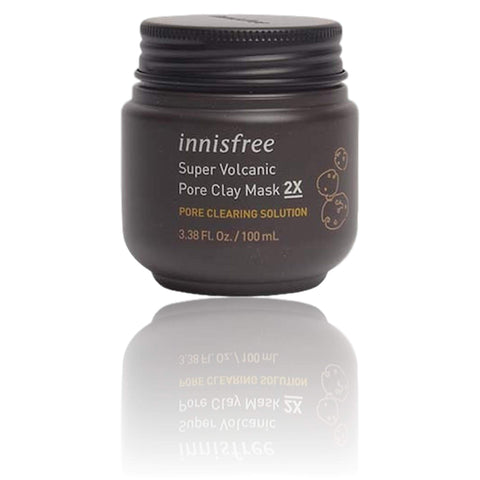 INNISFREE Super Volcanic Clusters Pore Clearing Clay Mask, 3.38 oz/ 100 ml, Face mask, London Loves Beauty