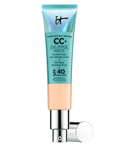IT Cosmetics Your Skin But Better CC+ Oil-Free Matte with SPF 40 - Light Medium, CC cream, London Loves Beauty