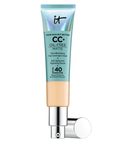 IT Cosmetics Your Skin But Better CC+ Oil-Free Matte with SPF 40 - Medium, CC cream, London Loves Beauty