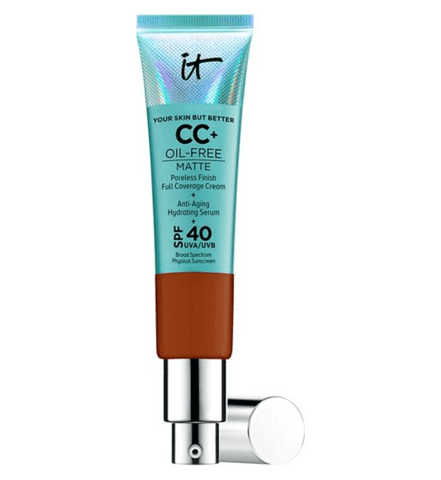 IT Cosmetics Your Skin But Better CC+ Oil-Free Matte with SPF 40 - Rich Honey, CC cream, London Loves Beauty
