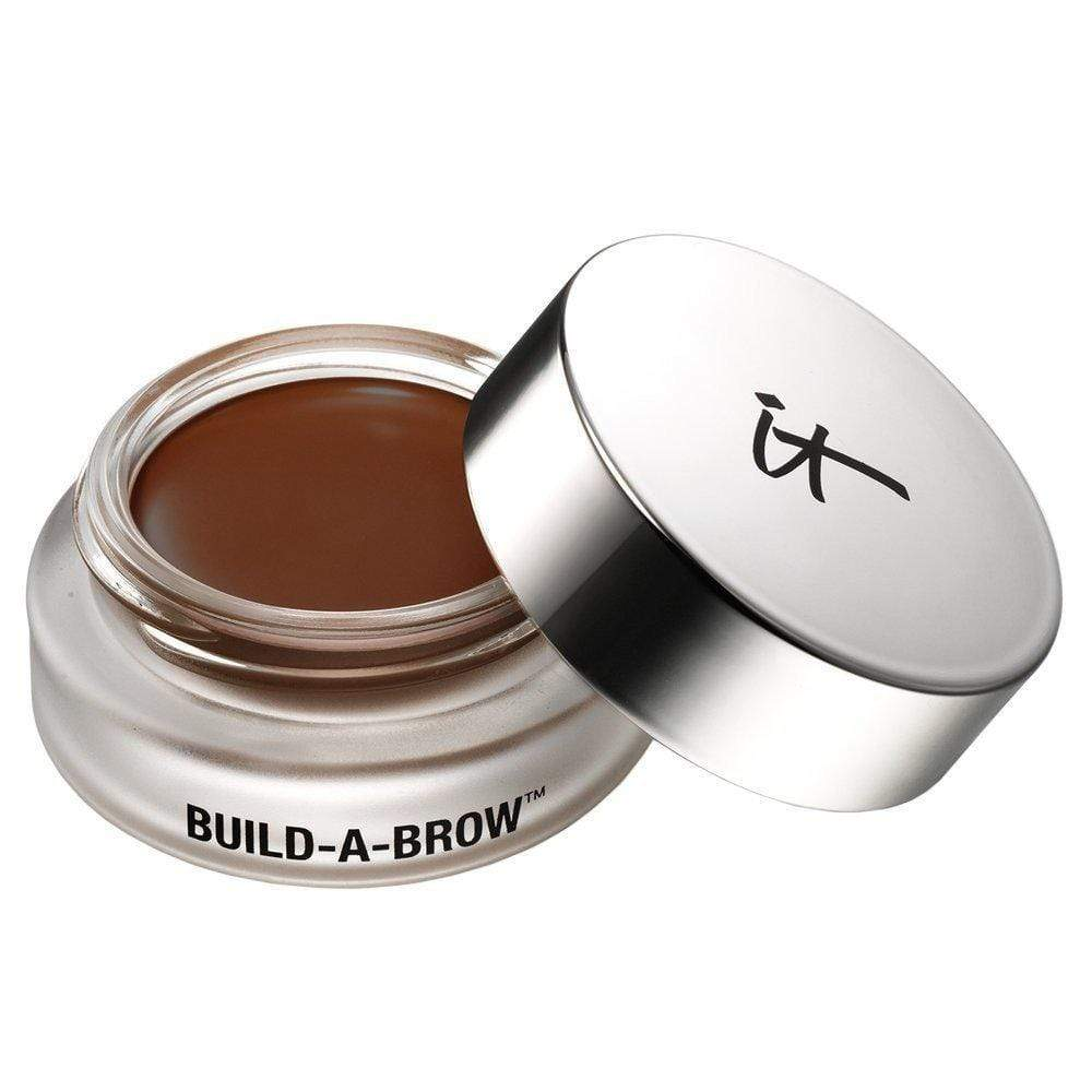 It Cosmetics Build A Brow Waterproof 5 in 1 Micro-Fiber Creme Stain: Dark Brown, Eyebrows, London Loves Beauty