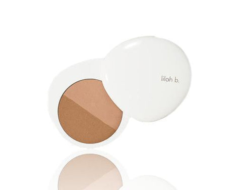 LILAH B. Bronzed Beauty™ Bronzer Duo, 9g, bronzer, London Loves Beauty
