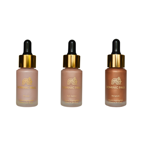 Dominic Paul Cosmetics 3 Liquid highlighters