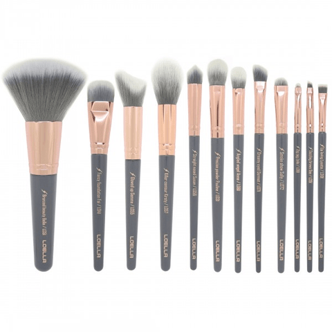 LOELLA Femme Fatale collection - 12 piece professional brush set, brush set, London Loves Beauty