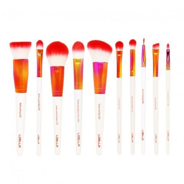 LOELLA COSMETICS Girl on Fire - 10 essentials brush set, Makeup Brushes, London Loves Beauty